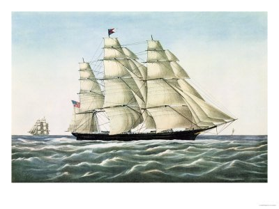 The Clipper Ship Flying Cloud Published by Currier and Ives, 1852