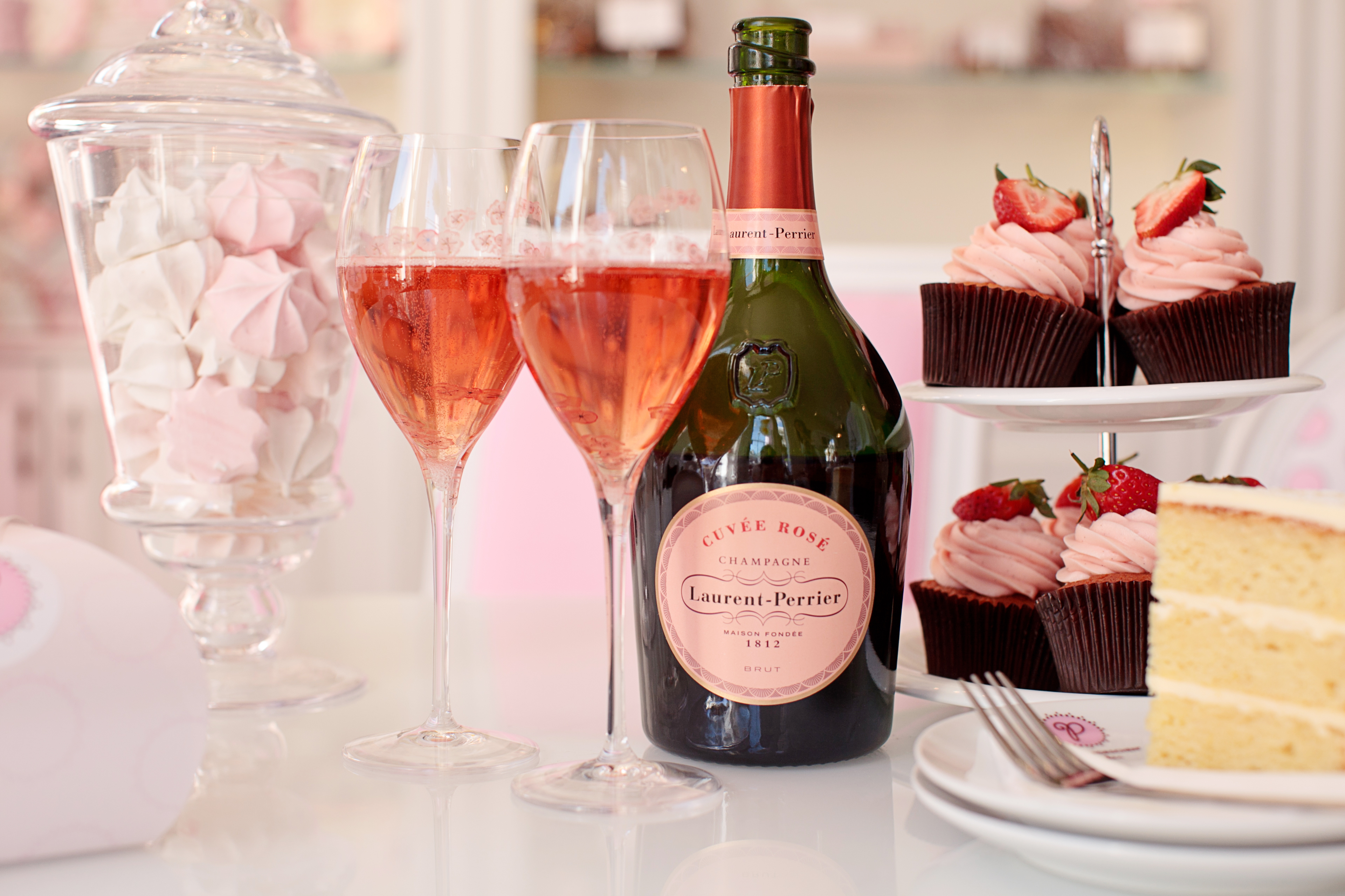 Pink Champagne Bottle Cake